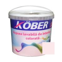 Vopsea lavabila interior, colorata, Kober, roz quartz V8320, 4 L