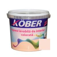 Vopsea lavabila interior, colorata, Kober, piersica V8330, 4 L