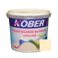 Vopsea lavabila interior, colorata, Kober, galben orient V8340, 4 L