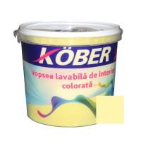 Vopsea lavabila interior, colorata, Kober, galben luminos V8345, 4 L