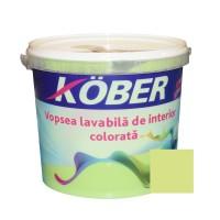 Vopsea lavabila interior, colorata, Kober, verde mar V8355, 4 L