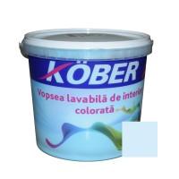 Vopsea lavabila interior, colorata, Kober, azur V8360, 4 L