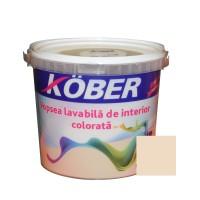 Vopsea lavabila interior, colorata, Kober, cafeniu V8370, 4 L