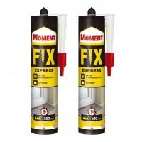 Adeziv universal de montaj, interior / exterior, Moment Fix Express, bej, 2 x 375 gr