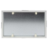 Usita vizitare faiantabila, Dakota, PVC + tabla galvanizata, 250 x 400 mm