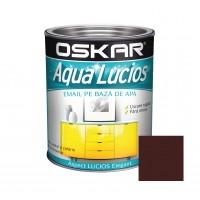 Vopsea pentru lemn / metal, Oskar Aqua Lucios, interior / exterior, pe baza de apa, maro nomad, 2.5 L