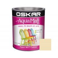 Vopsea pentru lemn / metal, Oskar Aqua Matt, interior / exterior, pe baza de apa, crem elegant, 0.6 L