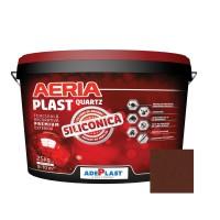 Tencuiala decorativa siliconica Aeria Plast, 2 mm, structurata, mahon, interior / exterior, 25 kg