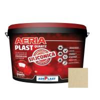 Tencuiala decorativa siliconica Aeria Plast, 2 mm, structurata, pin, interior / exterior, 25 kg