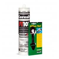 Etansant si adeziv transparent FT 101 Ceresit, 280 ml + spatula silicon