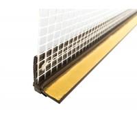 Profil PVC cu plasa, legatura tamplarie - perete, 6 mm, 2.5 m