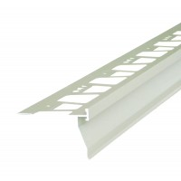 Profil picurator pentru balcon / terasa, AMO-PPB92, aluminiu, gri deschis, 2850 mm