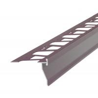 Profil picurator pentru balcon / terasa, AMO-PPB92, aluminiu, maro, 2850 mm
