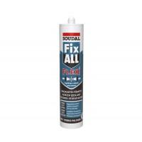 Adeziv pentru suprafete multiple, Soudal Fix All Flexi, alb, 290 ml