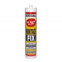 Adeziv universal de montaj, Soudal Montage Fix, alb, 280 ml
