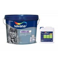 Vopsea superlavabila cu latex, interior, Savana, alb mat, 15 L + amorsa 4 L