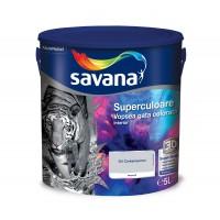 Vopsea gata colorata interior, Savana Superculoare, gri contemporan - eleganta, 5 L