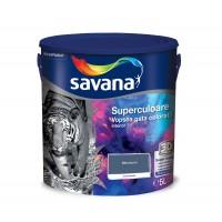 Vopsea gata colorata interior, Savana Superculoare, bleumarin - extravaganta, 5 L
