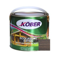 Lac / lazura 3 in 1 pentru lemn, Kober Ecolasure Extra, stejar gri, pe baza de apa, interior / exterior, 2.5 L