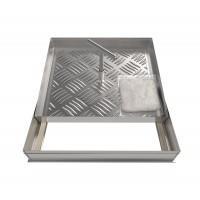 Usita vizitare faiantabila, Renard, pentru pardoseala, aluminiu, 300 x 300 mm