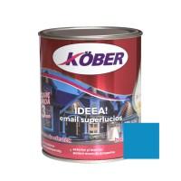 Vopsea alchidica pentru lemn / metal, Kober Ideea, interior / exterior, albastru luminos, 0.75 L