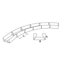 Profil metalic Rigips Vertebra GV, placi gips carton speciale, pentru suprafete curbe, 100 x 3000 x 0.6 mm