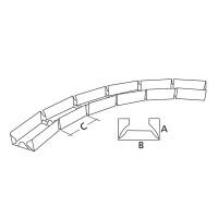 Profil metalic Rigips Vertebra GV, placi gips carton speciale, pentru suprafete curbe, 75 x 3000 x 0.6 mm