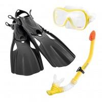Set inot Wave Rider Sports Intex 55658, masca + tub respiratie + labe inot