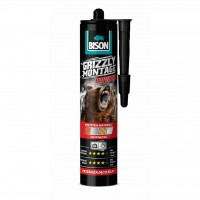 Adeziv pentru suprafete multiple, interior, Bison Grizzly Montage Power, alb, 370 gr.