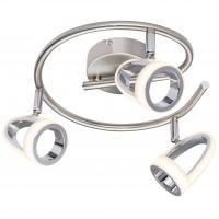 Plafoniera LED Rodrik 56006-3, 3 x 5W, nichel mat + alb satinat