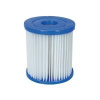 Cartus filtru Bestway  58094, pentru pompa filtrare apa piscina, 10.6 x 13.6 cm/ set 2 buc