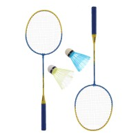 Racheta badminton, set 2  buc + 2 fluturasi