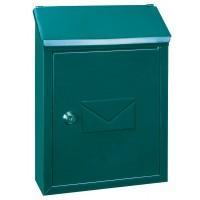Cutie postala pentru interior / exterior Rottner  Udine, otel galvanizat, verde, 21 x 7 x 30 cm