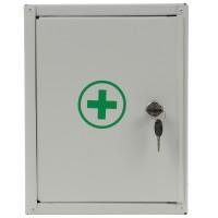 Cutie medicala Polo cu 2 compartimente, tabla zincata, alb, 30 x 25 x 10 cm
