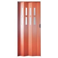 Usa de interior plianta Italbox, furnir mahon, 203 x 85 cm + geam Niagara din plastic