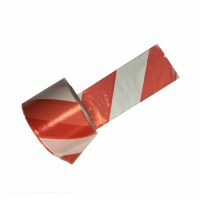 Banda semnalizare SEG01-1402, dungi rosu / alb, 200 m