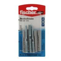 Prezon lemn / metal, Fischer STS, din otel, 8 x 80 mm + diblu nylon, UX 10, set 4 bucati