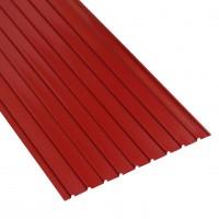 Tabla zincata cutata vopsita, rosu (RAL 3011), H 12 0.3 x 870 x 2000 mm