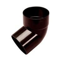 Cot burlan cu o mufa Wavin Kanion, PVC, maro, circular, D 90 mm, 67 grade