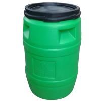 Butoi plastic Plastor Goliat 24115, cu capac, 120 litri, verde D 50.6 cm