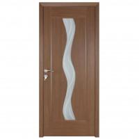 Usa de interior din lemn cu geam BestImp stanga / dreapta stejar auriu 014-68-J 203 x 68 cm