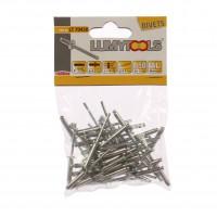 Nituri pop, aluminiu, Lumytools LT70430, 19 x 4, 50 bucati