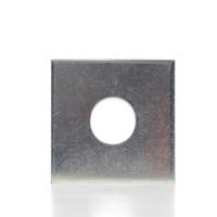 Saiba plata, patrata, din otel zincat alb, DIN436, M30, 95 x 95 x 6 mm
