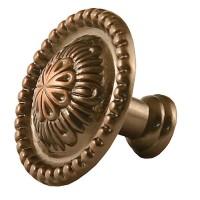 Buton pentru mobila, metalic, cupru antic, 32 x 25 mm