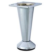 Picior mobila, universal, metalic, reglabil, crom lucios, 80 mm