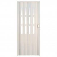 Usa de interior plianta Italbox, alb, 203 x 85 cm + geam Niagara din plastic
