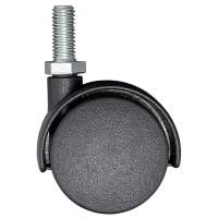 Rotila pentru mobila, plastic negru, cu surub, diametru 50 mm