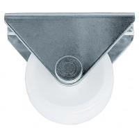 Rotila pentru mobila, plastic alb, diametru 32 mm