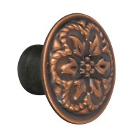 Buton pentru mobila, metalic, cupru antic, 30 x 20 mm