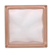 Caramida sticla roz, cloudy pink, interior / exterior, 19 x 19 x 8 cm